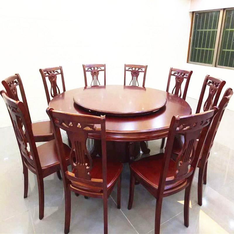 国产实木圆形餐桌1500mm胡桃色(个)