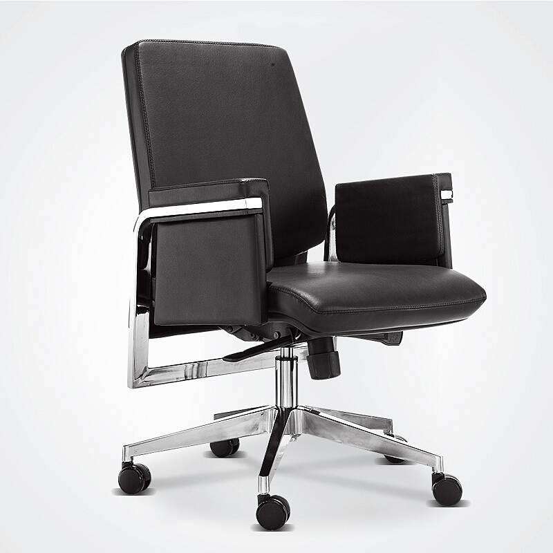 洛克菲勒CH-141B黑色皮质主管椅转椅615*720*960-1040mm(单位:把)黑色